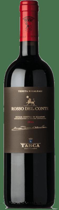52,95 € 免费送货 | 红酒 Tasca d'Almerita Rosso del Conte D.O.C. Contea di Sclafani 西西里岛 意大利 Nero d'Avola 瓶子 75 cl