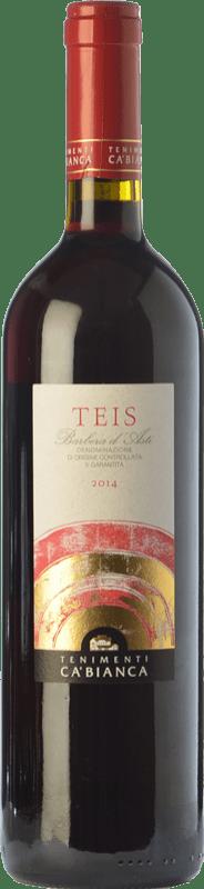 9,95 € Free Shipping | Red wine Tenimenti Ca' Bianca Teis D.O.C. Barbera d'Alba Piemonte Italy Barbera Bottle 75 cl