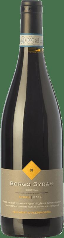12,95 € | Red wine Tenimenti d'Alessandro Il Borgo D.O.C. Cortona Tuscany Italy Syrah Bottle 75 cl