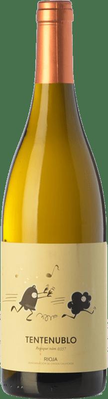 17,95 € Envío gratis | Vino blanco Tentenublo Crianza D.O.Ca. Rioja La Rioja España Viura, Malvasía Botella 75 cl