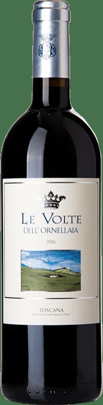 25,95 € 免费送货 | 红酒 Ornellaia Le Volte I.G.T. Toscana 托斯卡纳 意大利 Merlot, Cabernet Sauvignon, Sangiovese 瓶子 75 cl