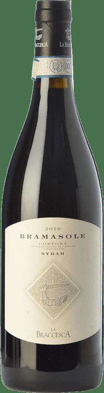 46,95 € Free Shipping | Red wine La Braccesca Bramasole D.O.C. Cortona Tuscany Italy Syrah Bottle 75 cl