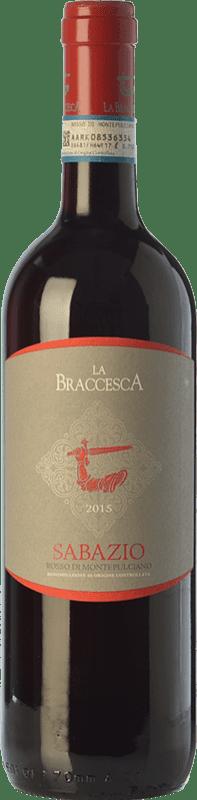 11,95 € Free Shipping | Red wine La Braccesca La Braccesca Sabazio D.O.C. Rosso di Montepulciano Tuscany Italy Merlot, Sangiovese Bottle 75 cl