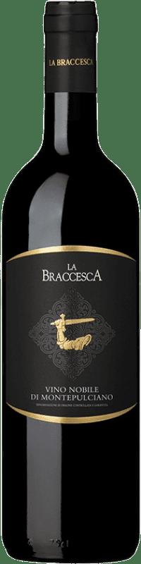 21,95 € Free Shipping | Red wine La Braccesca D.O.C.G. Vino Nobile di Montepulciano Tuscany Italy Merlot, Sangiovese Bottle 75 cl