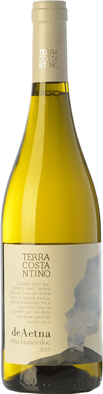 17,95 € Free Shipping | White wine Terra Costantino Bianco D.O.C. Etna Sicily Italy Carricante, Catarratto, Minella Bottle 75 cl