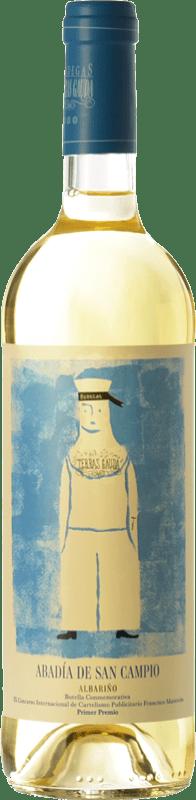 12,95 € Free Shipping | White wine Terras Gauda Abadía San Campio D.O. Rías Baixas Galicia Spain Albariño Bottle 75 cl