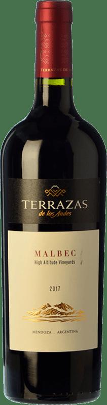16,95 € Envío gratis | Vino tinto Terrazas de los Andes High Altitude Crianza I.G. Mendoza Mendoza Argentina Malbec Botella 75 cl