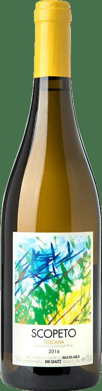 17,95 € Free Shipping | White wine Bibi Graetz Scopeto I.G.T. Toscana Tuscany Italy Vermentino, Ansonica Bottle 75 cl