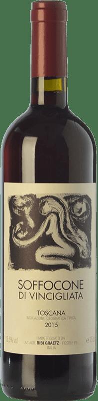 76,95 € Free Shipping | Red wine Bibi Graetz Soffocone di Vincigliata I.G.T. Toscana Tuscany Italy Sangiovese, Colorino, Canaiolo Magnum Bottle 1,5 L