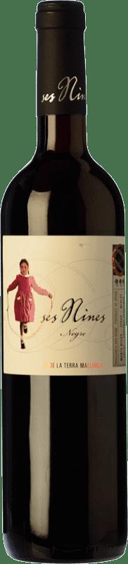 11,95 € Envío gratis | Vino tinto Tianna Negre Ses Nines Joven D.O. Binissalem Islas Baleares España Cabernet Sauvignon, Callet, Mantonegro Botella 75 cl