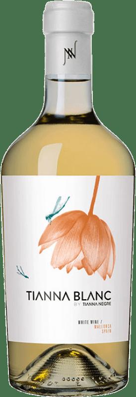 28,95 € Envoi gratuit | Vin blanc Tianna Negre Ses Nines Blanc Ecològic D.O. Binissalem Îles Baléares Espagne Giró Ros Bouteille 75 cl