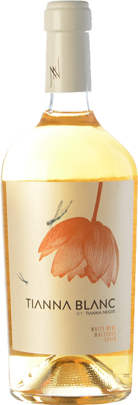 28,95 € Free Shipping | White wine Tianna Negre Ses Nines Blanc Ecològic D.O. Binissalem Balearic Islands Spain Giró Ros Bottle 75 cl