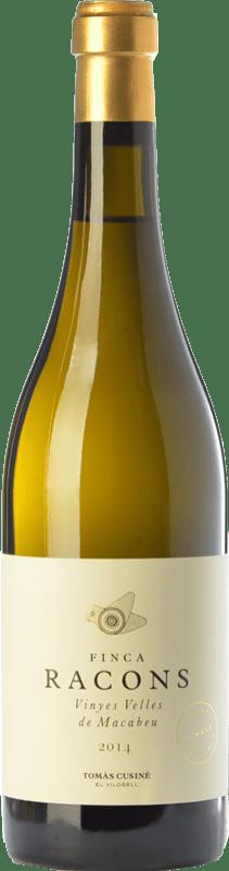 24,95 € Envío gratis | Vino blanco Tomàs Cusiné Finca Racons Crianza D.O. Costers del Segre Cataluña España Macabeo Botella 75 cl