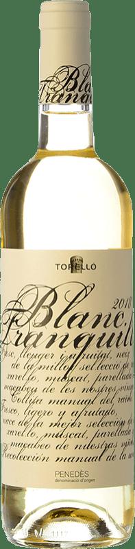 7,95 € Envoi gratuit | Vin blanc Torelló Blanc Tranquille D.O. Penedès Catalogne Espagne Macabeo, Xarel·lo, Parellada Bouteille 75 cl