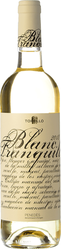 7,95 € Free Shipping | White wine Torelló Blanc Tranquille D.O. Penedès Catalonia Spain Macabeo, Xarel·lo, Parellada Bottle 75 cl