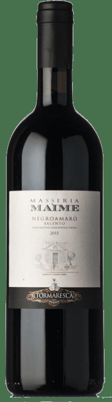 29,95 € Envoi gratuit | Vin rouge Tormaresca Masseria Maìme I.G.T. Salento Campanie Italie Negroamaro Bouteille 75 cl