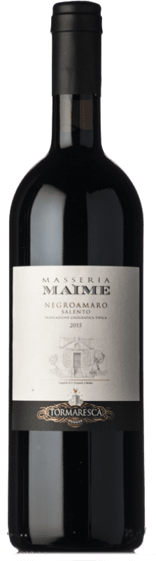 29,95 € Envío gratis   Vino tinto Tormaresca Masseria Maìme I.G.T. Salento Campania Italia Negroamaro Botella 75 cl