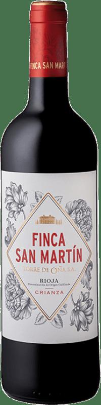 8,95 € Envío gratis | Vino tinto Torre de Oña Finca San Martín Crianza D.O.Ca. Rioja La Rioja España Tempranillo Botella 75 cl