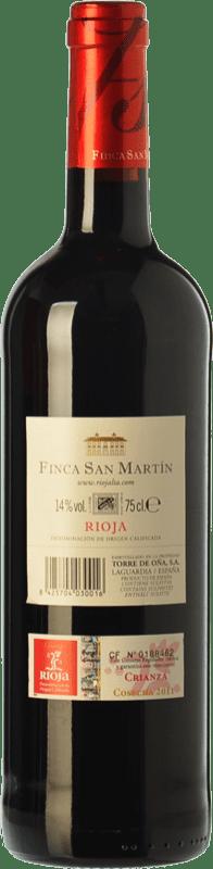 9,95 € Free Shipping   Red wine Torre de Oña Finca San Martín Crianza D.O.Ca. Rioja The Rioja Spain Tempranillo Bottle 75 cl