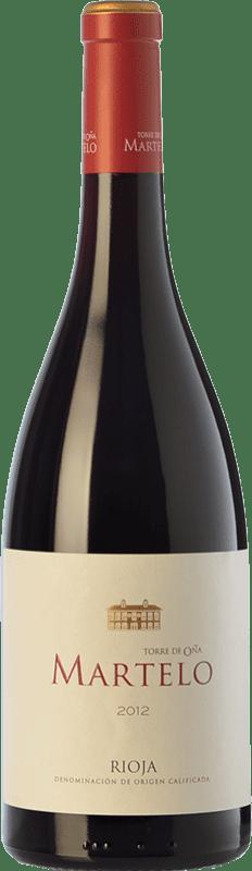 21,95 € Envoi gratuit | Vin rouge Torre de Oña Martelo Reserva D.O.Ca. Rioja La Rioja Espagne Tempranillo, Grenache, Mazuelo, Viura Bouteille 75 cl