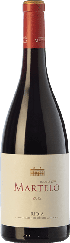 21,95 € Envío gratis | Vino tinto Torre de Oña Martelo Reserva D.O.Ca. Rioja La Rioja España Tempranillo, Garnacha, Mazuelo, Viura Botella 75 cl