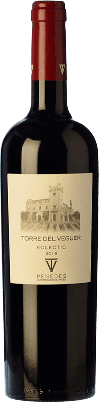 14,95 € Free Shipping | Red wine Torre del Veguer Eclèctic Crianza D.O. Penedès Catalonia Spain Merlot, Cabernet Sauvignon, Petite Syrah Bottle 75 cl
