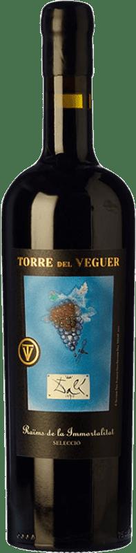 27,95 € Free Shipping | Red wine Torre del Veguer Raïms de la Immortalitat Negre Crianza D.O. Penedès Catalonia Spain Merlot, Cabernet Sauvignon, Petite Syrah Bottle 75 cl