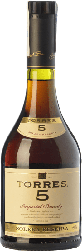 12,95 € Free Shipping | Brandy Torres 5 D.O. Catalunya Catalonia Spain Bottle 70 cl