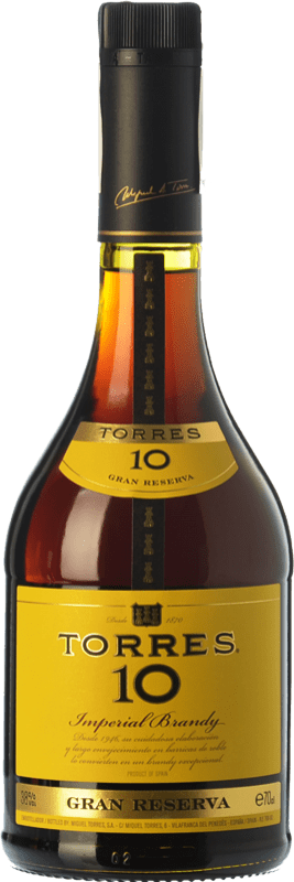 14,95 € Free Shipping | Brandy Torres 10 D.O. Catalunya Catalonia Spain Bottle 70 cl