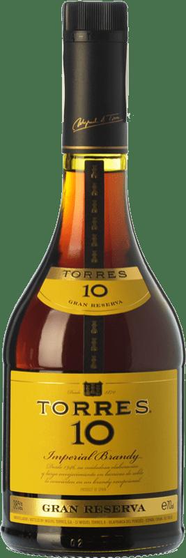 14,95 € Envío gratis | Brandy Torres 10 D.O. Catalunya Cataluña España Botella 70 cl