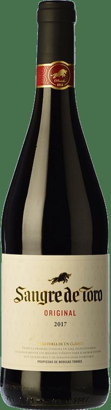 6,95 € | Red wine Torres Sangre de Toro Joven D.O. Catalunya Catalonia Spain Grenache, Carignan Bottle 75 cl