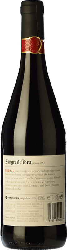4,95 € Free Shipping | Red wine Torres Sangre de Toro Joven D.O. Catalunya Catalonia Spain Grenache, Carignan Bottle 75 cl