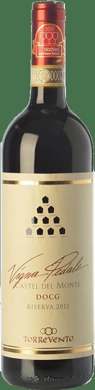 16,95 € Free Shipping | Red wine Torrevento Vigna Pedale Reserva D.O.C.G. Castel del Monte Rosso Riserva Puglia Italy Nero di Troia Bottle 75 cl