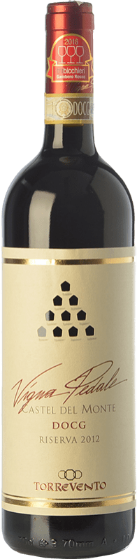 16,95 € Envoi gratuit | Vin rouge Torrevento Vigna Pedale Reserva D.O.C.G. Castel del Monte Rosso Riserva Pouilles Italie Nero di Troia Bouteille 75 cl