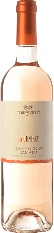 9,95 € Free Shipping | White wine Torrevilla La Genisia Pinot Grigio Ramato D.O.C. Oltrepò Pavese Lombardia Italy Pinot Grey Bottle 75 cl
