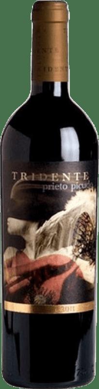 26,95 € Envío gratis | Vino tinto Tritón Tridente Crianza I.G.P. Vino de la Tierra de Castilla y León Castilla y León España Prieto Picudo Botella 75 cl