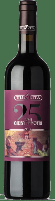 74,95 € Envío gratis | Vino tinto Tua Rita Giusto di Notri I.G.T. Toscana Toscana Italia Merlot, Cabernet Sauvignon, Cabernet Franc Botella 75 cl