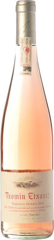 12,95 € Free Shipping | Rosé wine Txomin Etxaniz Rosé D.O. Getariako Txakolina Basque Country Spain Hondarribi Zuri, Hondarribi Beltza Bottle 75 cl