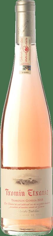 12,95 € 免费送货 | 玫瑰酒 Txomin Etxaniz Rosé D.O. Getariako Txakolina 巴斯克地区 西班牙 Hondarribi Zuri, Hondarribi Beltza 瓶子 75 cl