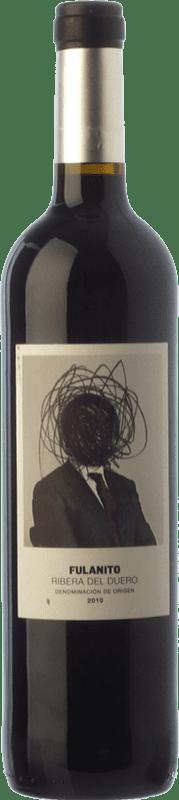 21,95 € Envío gratis | Vino tinto Uvas de Cuvée Fulanito Joven D.O. Ribera del Duero Castilla y León España Tempranillo, Merlot, Cabernet Sauvignon Botella Mágnum 1,5 L
