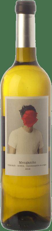 8,95 € Envío gratis | Vino blanco Uvas de Cuvée Menganito D.O. Rueda Castilla y León España Verdejo Botella 75 cl