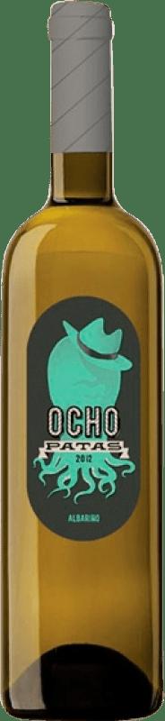 14,95 € Envío gratis | Vino blanco Uvas de Cuvée Ocho Patas D.O. Rías Baixas Galicia España Albariño Botella 75 cl