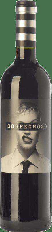 67,95 € Free Shipping | Red wine Uvas Felices Sospechoso Joven I.G.P. Vino de la Tierra de Castilla Castilla la Mancha Spain Tempranillo, Tinta de Toro Jéroboam Bottle-Double Magnum 3 L