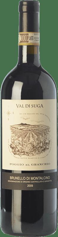 59,95 € Free Shipping | Red wine Val di Suga Poggio al Granchio 2009 D.O.C.G. Brunello di Montalcino Tuscany Italy Sangiovese Bottle 75 cl