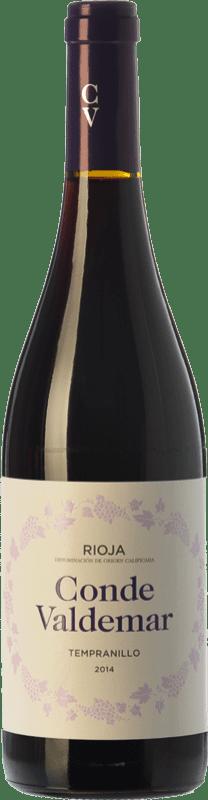 5,95 € 免费送货   红酒 Valdemar Conde de Valdemar Joven D.O.Ca. Rioja 拉里奥哈 西班牙 Tempranillo 瓶子 75 cl