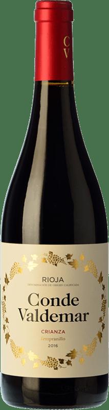 17,95 € 免费送货   红酒 Valdemar Conde de Valdemar Crianza D.O.Ca. Rioja 拉里奥哈 西班牙 Tempranillo, Mazuelo 瓶子 Magnum 1,5 L