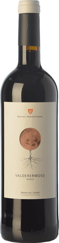 8,95 € Envío gratis | Vino tinto Valderiz Valdehermoso 9 Meses Joven D.O. Ribera del Duero Castilla y León España Tempranillo Botella 75 cl