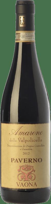 43,95 € Free Shipping | Red wine Vaona Paverno D.O.C.G. Amarone della Valpolicella Veneto Italy Corvina, Rondinella, Molinara Bottle 75 cl