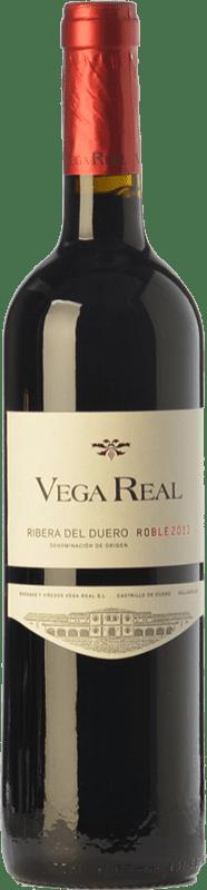 7,95 € 免费送货 | 红酒 Vega Real Roble D.O. Ribera del Duero 卡斯蒂利亚莱昂 西班牙 Tempranillo 瓶子 75 cl