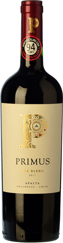 14,95 € Free Shipping | Red wine Veramonte Primus The Blend Crianza I.G. Valle de Colchagua Colchagua Valley Chile Merlot, Cabernet Sauvignon, Cabernet Franc, Petit Verdot, Carmenère Bottle 75 cl